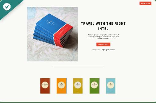 Wildsam - StoryBrand website example