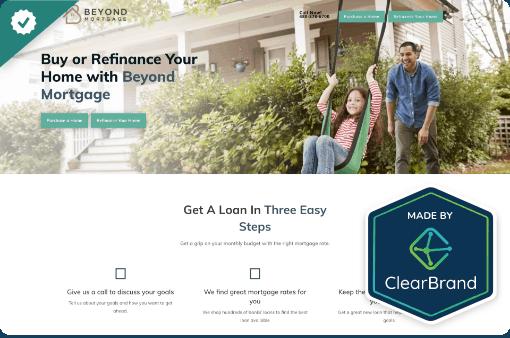 Beyond Mortgage - StoryBrand website example