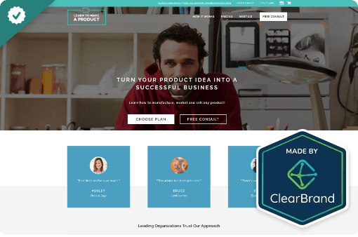 Learn To Make A Product - StoryBrand website example