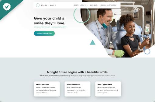 Stark Smiles - StoryBrand website example